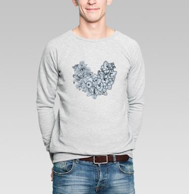 Flowers - Купить мужские свитшоты красивые в Москве, цена мужских свитшотов красивых  с прикольными принтами - магазин дизайнерской одежды MaryJane