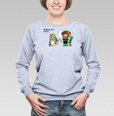 Футболки Love is...№6 - Купить детские свитшоты с дымом в Москве, цена детских свитшотов с дымом  с прикольными принтами - магазин дизайнерской одежды MaryJane