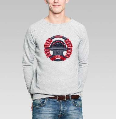 Герб водителя - Купить мужские свитшоты с автомобилями в Москве, цена мужских свитшотов с автомобилями  с прикольными принтами - магазин дизайнерской одежды MaryJane