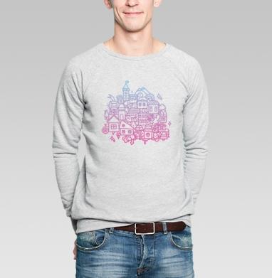ГОРОДОК - Купить мужские свитшоты с городами в Москве, цена мужских свитшотов с городами  с прикольными принтами - магазин дизайнерской одежды MaryJane