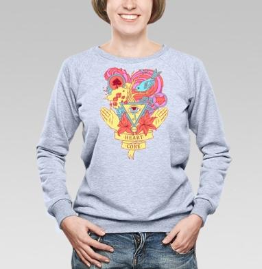 Heart core - Купить детские свитшоты с любовью в Москве, цена детских свитшотов с любовью  с прикольными принтами - магазин дизайнерской одежды MaryJane