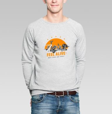 Краш тест - Купить мужские свитшоты с автомобилями в Москве, цена мужских свитшотов с автомобилями  с прикольными принтами - магазин дизайнерской одежды MaryJane