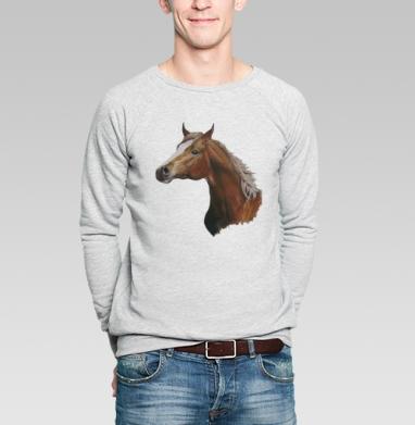 Лошадь - Купить мужские свитшоты с илюстрациями в Москве, цена мужских свитшотов с илюстрациями  с прикольными принтами - магазин дизайнерской одежды MaryJane