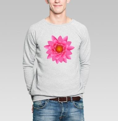 Лотос - символ чистоты - Купить мужские свитшоты с символами в Москве, цена мужских свитшотов с символом с прикольными принтами - магазин дизайнерской одежды MaryJane