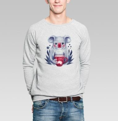 Любитель Австралии - Купить мужские свитшоты с любовью в Москве, цена мужских  с любовью  с прикольными принтами - магазин дизайнерской одежды MaryJane