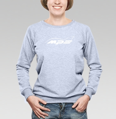 Mazda MPS Аeroplane, Cвитшот женский, толстовка без капюшона  серый меланж