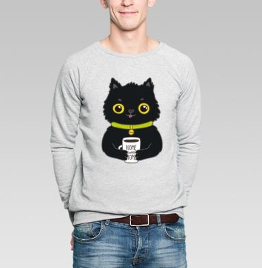 Миша кот  - Купить мужские свитшоты с кошками в Москве, цена мужских  с кошками  с прикольными принтами - магазин дизайнерской одежды MaryJane