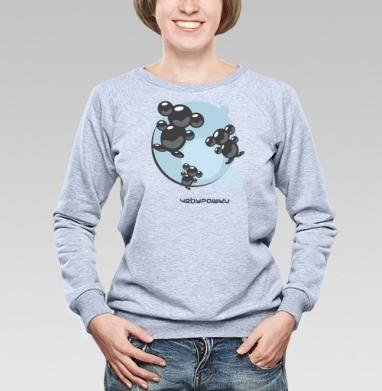 Молекулы Чебурашки - Купить детские свитшоты с дымом в Москве, цена детских свитшотов с дымом  с прикольными принтами - магазин дизайнерской одежды MaryJane
