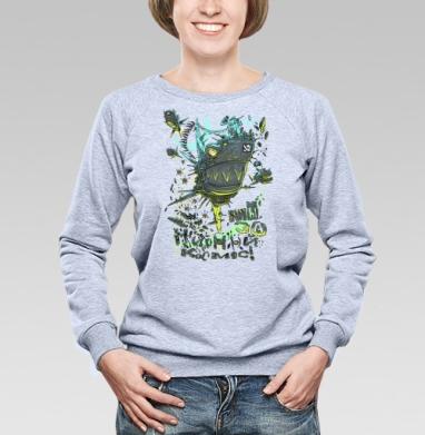Мы за МИРный космос! первый вариант  - Купить детские свитшоты с пиратом в Москве, цена детских свитшотов пиратских с прикольными принтами - магазин дизайнерской одежды MaryJane