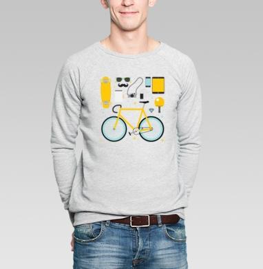 НАБОР ХИПСТЕРА - Купить мужские свитшоты с велосипедом в Москве, цена мужских  с велосипедом  с прикольными принтами - магазин дизайнерской одежды MaryJane