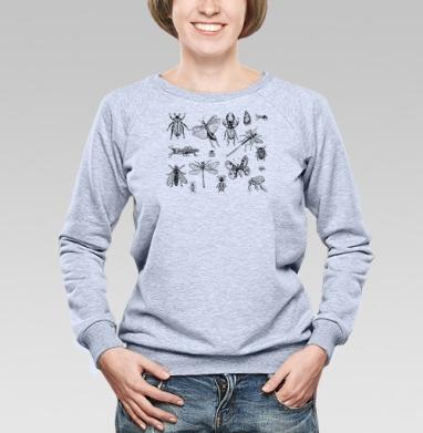 Насекомые  - Купить детские свитшоты с насекомыми в Москве, цена детских свитшотов с насекомыми  с прикольными принтами - магазин дизайнерской одежды MaryJane