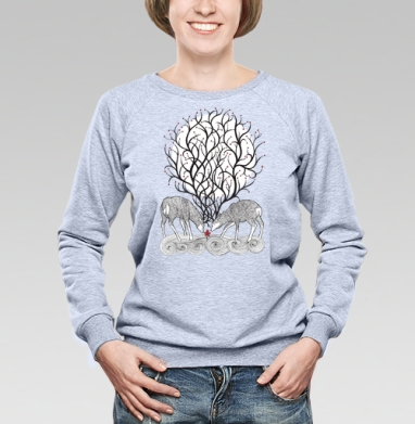 No forest - Купить женские свитшоты с природой в Москве, цена женских свитшотов с природой  с прикольными принтами - магазин дизайнерской одежды MaryJane