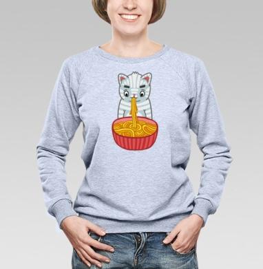 Noodle cat - Купить детские свитшоты с едой в Москве, цена детских свитшотов с едой  с прикольными принтами - магазин дизайнерской одежды MaryJane