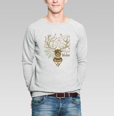 Олень - Купить мужские свитшоты Новый год в Москве, цена мужских свитшотов новогодних  с прикольными принтами - магазин дизайнерской одежды MaryJane