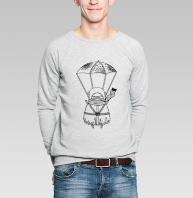 Парашютист - Купить мужские свитшоты с людьми в Москве, цена мужских свитшотов с людьми  с прикольными принтами - магазин дизайнерской одежды MaryJane