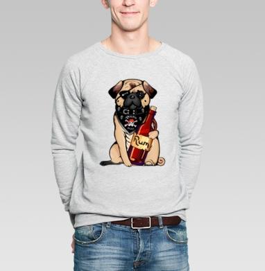 Pirate pug - Купить мужские свитшоты с пиратом в Москве, цена мужских свитшотов пиратских с прикольными принтами - магазин дизайнерской одежды MaryJane