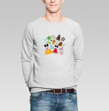 Пираты  - Купить мужские свитшоты с илюстрациями в Москве, цена мужских свитшотов с илюстрациями  с прикольными принтами - магазин дизайнерской одежды MaryJane