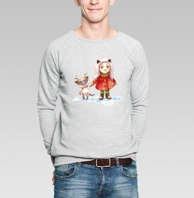 Пойдем гулять! - Купить мужские свитшоты с живописью в Москве, цена мужских свитшотов с живописью  с прикольными принтами - магазин дизайнерской одежды MaryJane