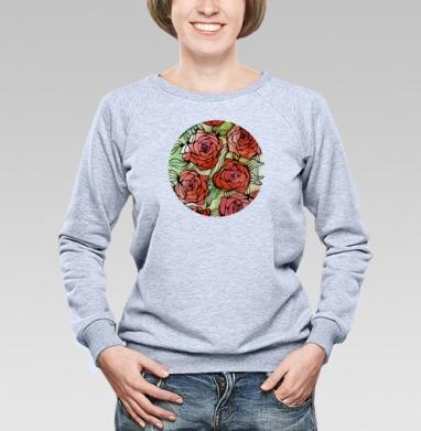 Розы - Купить женские свитшоты с роами в Москве, цена женских свитшотов с розой с прикольными принтами - магазин дизайнерской одежды MaryJane