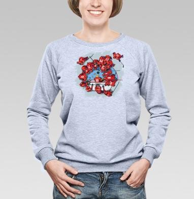 Рыбалка с шайбой - Купить женские свитшоты с приколами в Москве, цена женских свитшотов с приколами с прикольными принтами - магазин дизайнерской одежды MaryJane