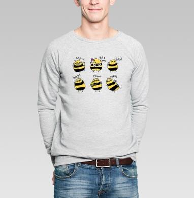 Шмели - Купить мужские свитшоты с насекомыми в Москве, цена мужских свитшотов с насекомыми  с прикольными принтами - магазин дизайнерской одежды MaryJane
