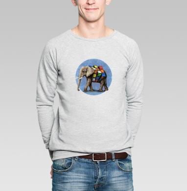 Слон Рубика - Купить мужские свитшоты с животными в Москве, цена мужских  с животными  с прикольными принтами - магазин дизайнерской одежды MaryJane