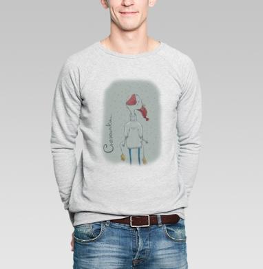 Снежинки - Купить мужские свитшоты с едой в Москве, цена мужских свитшотов с едой  с прикольными принтами - магазин дизайнерской одежды MaryJane