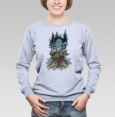 Сосновый лес - Купить детские свитшоты с грибами в Москве, цена детских свитшотов с грибами с прикольными принтами - магазин дизайнерской одежды MaryJane