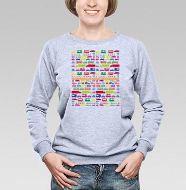 SUPER CARS - Купить женские свитшоты с автомобилями в Москве, цена женских свитшотов с автомобилями  с прикольными принтами - магазин дизайнерской одежды MaryJane