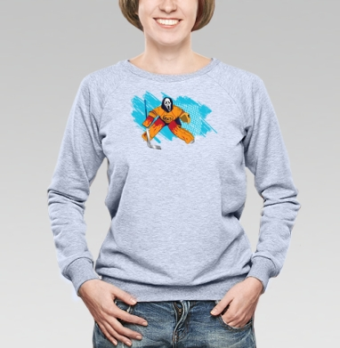Трус не играет в хоккей - Купить женские свитшоты с приколами в Москве, цена женских свитшотов с приколами с прикольными принтами - магазин дизайнерской одежды MaryJane