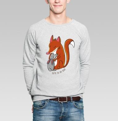 Ты в моем сердце - Купить мужские свитшоты для влюбленных в Москве, цена мужских свитшотов дли влюбленных  с прикольными принтами - магазин дизайнерской одежды MaryJane