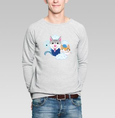 Узор из собак и котов - Купить мужские свитшоты паттерн в Москве, цена мужских  с паттерном  с прикольными принтами - магазин дизайнерской одежды MaryJane