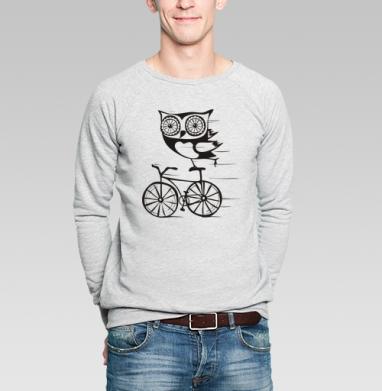 Свитшот мужской без капюшона серый меланж - Велосова