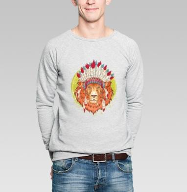ВОЖДЬ ЗВЕРЕЙ - Купить мужские свитшоты с индейцами в Москве, цена мужских  с индейцами  с прикольными принтами - магазин дизайнерской одежды MaryJane