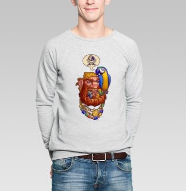 Йо-хо-хо и борода птенцов - Купить мужские свитшоты с пиратом в Москве, цена мужских свитшотов пиратских с прикольными принтами - магазин дизайнерской одежды MaryJane