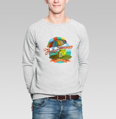 Hello Summer & Hello Sea! - Купить мужские свитшоты с мороженным в Москве, цена мужских  с мороженным  с прикольными принтами - магазин дизайнерской одежды MaryJane