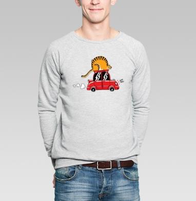 Бип-Беп! - Купить мужские свитшоты с тигром в Москве, цена мужских свитшотов с тиграми  с прикольными принтами - магазин дизайнерской одежды MaryJane