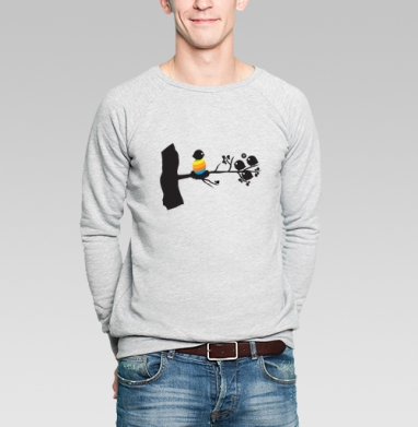 Birthofcolor - Купить мужские свитшоты с птицами в Москве, цена мужских свитшотов с птицами  с прикольными принтами - магазин дизайнерской одежды MaryJane