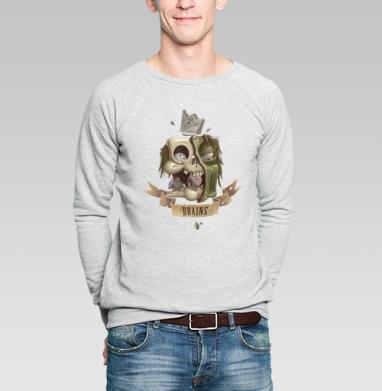 Brains - Купить мужские свитшоты с черепом в Москве, цена мужских  с черепом  с прикольными принтами - магазин дизайнерской одежды MaryJane