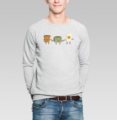Breakfast friends - Купить мужские свитшоты со смайлами в Москве, цена мужских  со смайлами с прикольными принтами - магазин дизайнерской одежды MaryJane