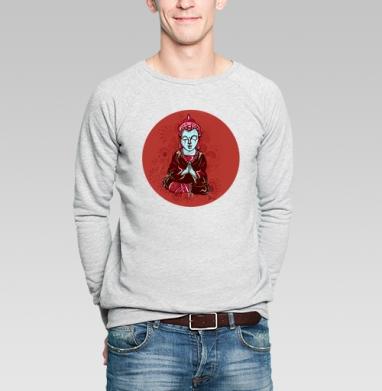 Buddha - Купить мужские свитшоты с йогой в Москве, цена мужских свитшотов с йогой  с прикольными принтами - магазин дизайнерской одежды MaryJane