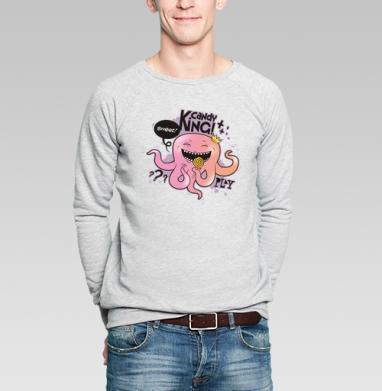 Candy king - Купить мужские свитшоты сладости в Москве, цена мужских свитшотов со сладостями  с прикольными принтами - магазин дизайнерской одежды MaryJane