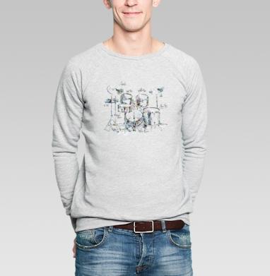 Drums - Купить мужские свитшоты музыка в Москве, цена мужских свитшотов музыкальных  с прикольными принтами - магазин дизайнерской одежды MaryJane