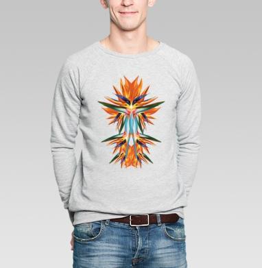Flowers from the space - Купить мужские свитшоты с летом в Москве, цена мужских свитшотов с летом  с прикольными принтами - магазин дизайнерской одежды MaryJane