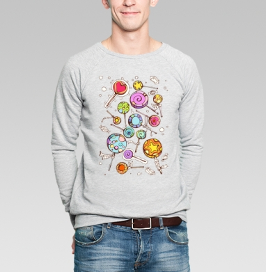 Fruit drop - Купить мужские свитшоты сладости в Москве, цена мужских свитшотов со сладостями  с прикольными принтами - магазин дизайнерской одежды MaryJane