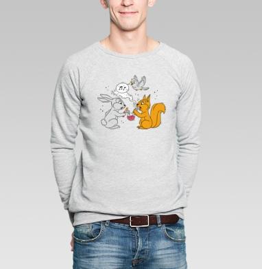 Funny friends - Купить мужские свитшоты с дымом в Москве, цена мужских свитшотов с дымом  с прикольными принтами - магазин дизайнерской одежды MaryJane