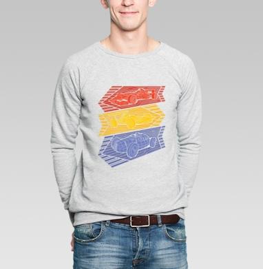 Grand Prix Legends - Купить мужские свитшоты с геометрическим рисунком в Москве, цена мужских свитшотов с геометрическим рисунком  с прикольными принтами - магазин дизайнерской одежды MaryJane