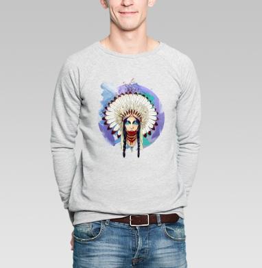 Greed - Купить мужские свитшоты с индейцами в Москве, цена мужских свитшотов с индейцами  с прикольными принтами - магазин дизайнерской одежды MaryJane