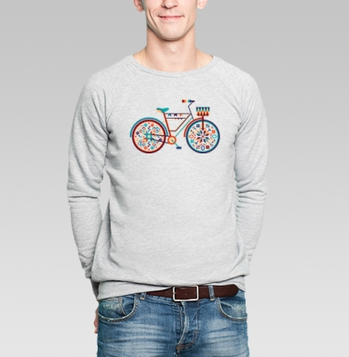 Hippie Bike - Купить мужские свитшоты с велосипедом в Москве, цена мужских  с велосипедом  с прикольными принтами - магазин дизайнерской одежды MaryJane