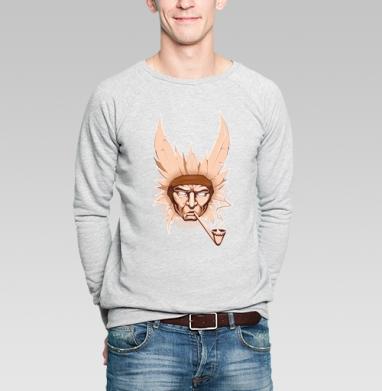 Indian  - Купить мужские свитшоты с дымом в Москве, цена мужских свитшотов с дымом  с прикольными принтами - магазин дизайнерской одежды MaryJane